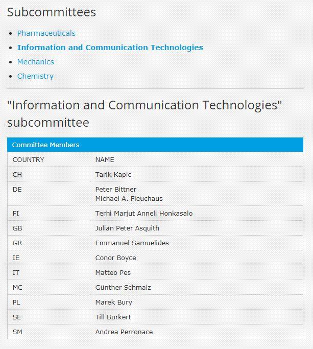 EPPC ict subcommittee