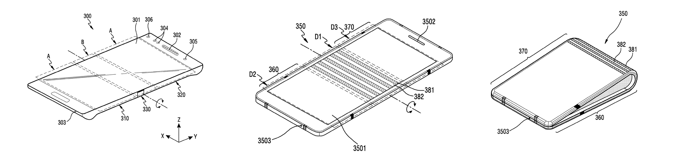 Samsung foldable device WO2017135651