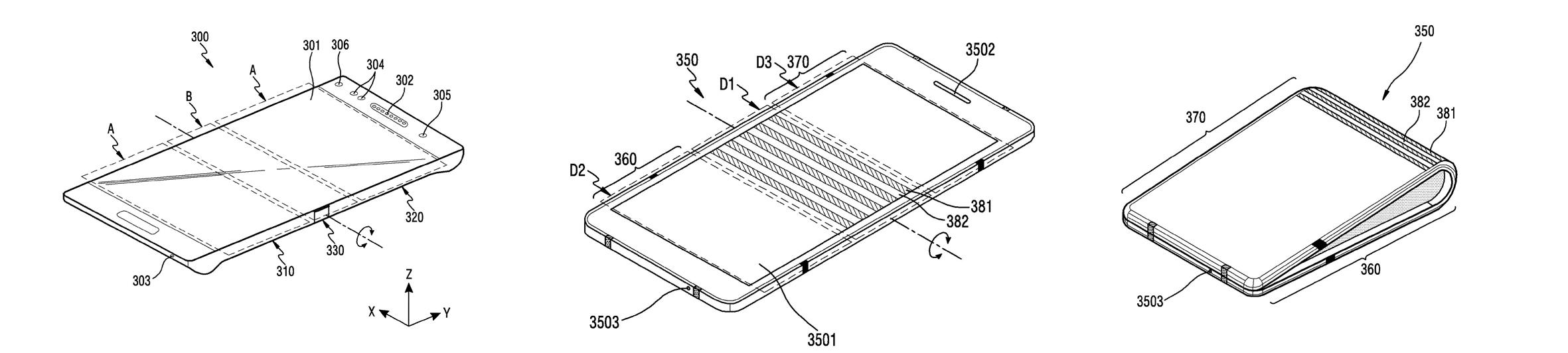 Samsung foldable device WO2017135651