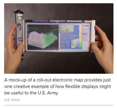 U.S. Army flexible screen mock-up